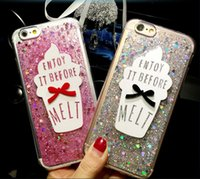 apple creams - Bling Paillette Sequin Ice Cream Case Cover For Apple iPhone S Case Silicone Series Soft Crystal Case For Phone