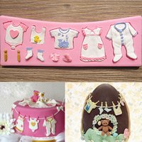 Wholesale 3D Silicone Cloth Fondant Chocolate Mold Mould Cake Decoration Cookie Cookies Sugarcraft Plunger Mould Tool Kit KDB_208