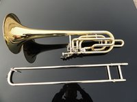Wholesale Bach B Tone Brass Tenor Trombone Playing Musical Instrument Double Adjustable Bb Trombone With Cupronickel Mouthpiece Case