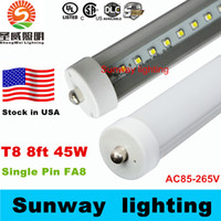 8 - Stock In US feet led ft single pin t8 FA8 Single Pin LED Tube Lights W Lm LED Fluorescent Tube Lamps V