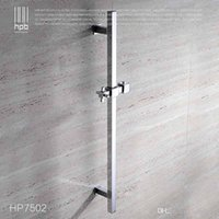 Wholesale Han Pai Brass Bathroom Product Slide Bar Chrome Plated Head Holder Hand Held Shower Bracket Holder Sliding Rail HP7502