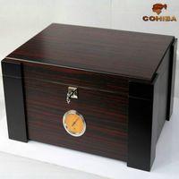 Wholesale COHIBA cedar wood cigar box Moisturizing cabinet Cigar moisturizing box Via DHL