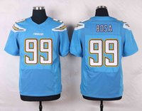 Wholesale 2016 Newest Men s SDC Joey Bosa White Navy Blue light blue Football Jerseys Good Quality