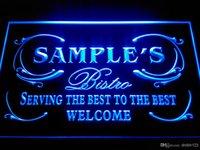 Carved best restaurant names - DZ021 b Name Personalized Custom Best Bistro Custom Neon Light Sign