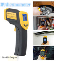 Wholesale Hot Hand held non contact infrared thermometer LCD thermostat forehead and ears of human infrared thermometer tool DT8380