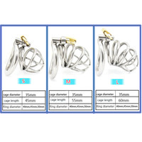 Wholesale Stainless Steel Small Male Chastity device Adult Cock Cage With Curve Cock Ring Sex Toys Bondage Chastity Bondage BDSM Latest Design CD068