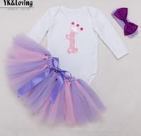 american yarn - 2016 Girls Baby Tutu Dress Peices Princess Handmade Yarn Skirt Long Sleeved Rompers Headwear Skirt Y