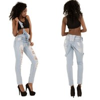 Cheap New Pattern 2016 Autumn Women Waisted Self-cultivation Jeans Cowboy Female High Waist Denim Ripped Woman Color For Plus Size Bodycon
