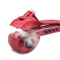 auto steam iron - Titanium Auto Hair Curler With Steam Spray Hair Care Styling Tools Ceramic Wave Hair Roller Magic Curling Iron Hair Styler