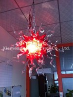 art deco artist - Artist Custom Hand Blown Glass Cheap Chandelier Light Home Decor Chihuly Style Crystal Hanging LED Glass Pendant Lamps