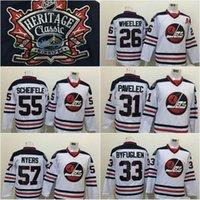 Wholesale 55 Mark Scheifele Dustin Byfuglien Blake Wheeler Tyler Myers Ondrej Pavelec Heritage Classic Winnipeg Jets Hockey Jerseys