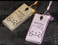apple kitty - iPhone S D Cartoon hello Kitty clear Soft TPU Case Protective Gel back cover with Rope for iphone4S S SE SPLUS MOQ