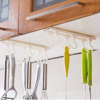 bathroom wall shelves cabinets - Practical Kitchen cabinets ceiling hook with hooks Desk Cupboards Hanging Rack rod wall hook organizer Kitchen Accessories