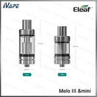 Wholesale 100 Original Eleaf Melo III ml Melo III Mini ml Atomizer Melo Melo Mini Top Filling Airflow Adjustable Tank With EC Coils
