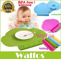 Wholesale Walfos Waterproof silicone Baby bib Table Mat Silicone Pad Infant Diner Portable Placemat for kids Baby Feeding baby place mat