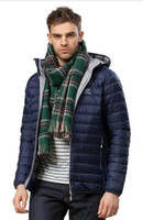 Wholesale HOT New Men s White Duck Down Jacket Hooded Ultra Light Coats Autumn Winter Warm Male Outdoor Sports Lightweight Parka Free shipp