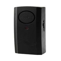 alarm security bar - New Black Security Door Window Vibration Detector Alarm dB Magnetic Bar E00387 SMAD