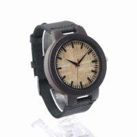 bamboo sandal - Bobobird RT0460 Mens Black Sandal Wooden Bamboo Watches Luxury Wooden Bamboo Watches With Leather Quartz Watch