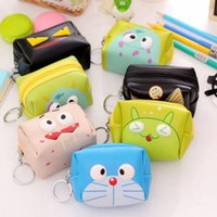 adult business cards - 8Models Cartoon Coin Purses Children adult PU animal monster print Holders Wallet Ladies girl cute key case Holder styles choose free