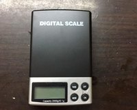 Wholesale 2000g x g DIGITAL Scales Gram pocket Balance Weighing Scale A06 blue backlight kare