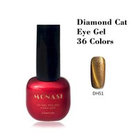 Wholesale High quality d diamond cat eye gel polish need magnet nail lacquer varnish for nail polish uv ge