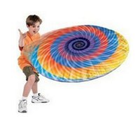 Wholesale Hover Disc Inflatable Frisbee Flying Disk Rainrbow Cartoon Printed Child Kids Great Outdoor Toys Safety Popular Children Toy Gifts