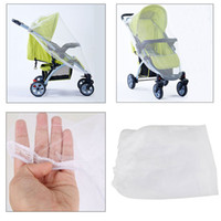 Wholesale Universal Full Cover Baby Mosquito Net for By Pram Baby Stroller Carriers Pushchair Portable Durable Insect Bug Cover white