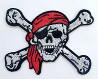 Wholesale PUNK scarf Ghost Skull Pirate Embroidered IronOn Patch Badge Applique clothes jaccket accessory wholesales
