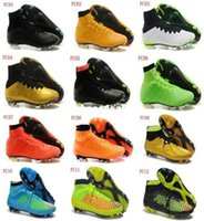 Wholesale 2015 Superfly IV FG Soccer Shoes Magista Obra FG Football Boots Men High Ankle Soccer Cleats CR7 Orange Red Black Green Blue