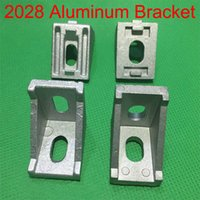Wholesale 10pce Industrial Aluminum Profile Accessories corner fitting angle aluminum L type corner bracket fastener match use aluminum profile