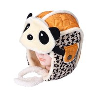 baby giant pandas - Best Deal New Fashion Cute Giant Panda Baby Boy Children Infant Toddler Warm Spiral Knit Hat Cap years old Gift PC