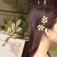 Wholesale HOT SALE off New Gold Butterfly Hair Clip women Leaves Barrettes Hairpins headband Hair Accessories Jewelry Bride Headwear