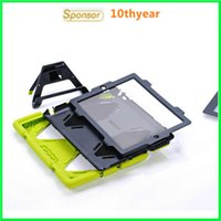 Wholesale for ipad234 air12 mini123 Survivors series ipad case with clip stand PC Silicon Dust Drop Shockproof Perfect protection case