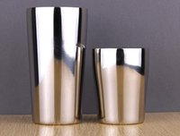 Stainless Steel beer mirrors - 2016 Mirror mugs stainless steel beer mugs double layer vacuum cup japan cold insulation drinking cup