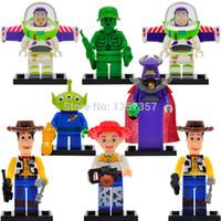 aliens toy - Toy Story Cartoon Minifigures Woody Buzz Aliens Jessie Building Blocks Set Models Figures Bricks Toys For Children