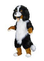 bernese mountain dogs - Realistic Bernese Mountain Dog Mascot Costume Adult Size Lovely Snowman Theme Anime Cosply Costumes Carnival Fancy Dress Kits