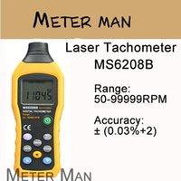Wholesale Multi Function professional RPM Non Contact Laser Photo Type Digital Tachometer MS6208B