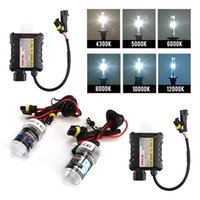 Wholesale DHL W HID Xenon Headlight Conversion KIT H1 H3 H7 H8 H9 H11 K Car Bulbs
