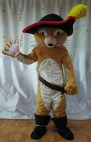 Cheap Hotsale Mascot Costume Adult Size High Quality Puss in Boots Cartoon Character Costumes Fancy Dress Suit