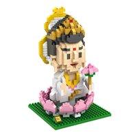 al por mayor figuras del budismo-Figuras de Acción Budismo Manjusri Bodhisattva Bless Health Ensamblado Juguetes Mejor regalo para niños Elder Decoration