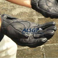 Wholesale Hot Sale Top Full Finger gloves Short Motorcycle Off road Cycling Racing Bicycle Sports Leather Armed Gloves black M L XL