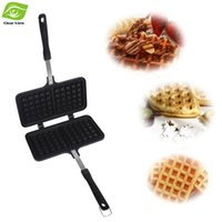 Wholesale Non stick Waffles Maker Cake Muffin Pan Baking Mold Home DIY Bakeware For Gas