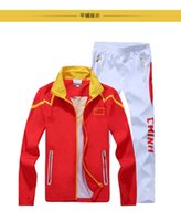 badminton sportswear - Olympic Games Chinese team sportswear embroidery flag Men s sports clothes sets Outdoors tops Jacket fast drying caots Pants