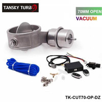 Wholesale 70mm Open NEW style Vacuum Exhaust Cutout Valve with Wireless Remote Controller Set TK CUT70 OP DZ
