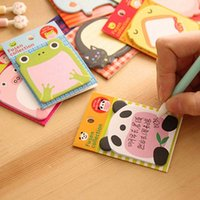 Wholesale sets Animal Sticky Notes Notepad High Quality Filofax Memo Pads Office School Supplies Papelaria