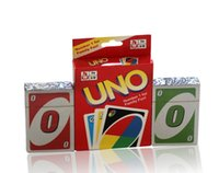 Wholesale UNO Poker Playing Cards Standard Edition Family Famous Fun Holiday Entertainment Board Games Kids Funny Puzzle Game Special for Brain