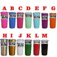 Wholesale 13 colors Beer Mug oz Yeti Cup Stainless Steel Yeti Rambler YETI Coolers Rambler Tumbler Double Walled Travel Mug YETI cup colster