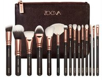Wholesale ZOEVA Rose Golden piece Luxurious Makeup Brushes Set Brush Clutch Bag Powder Foundation Brush face and eye brushes kit Blush Brush