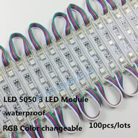 Wholesale 100pcs LM W Leds SMD Led Modules RGB Led Pixel Modules Waterproof V Backlights For Channer Letter