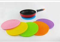 Wholesale Newest Table Mats Colors Non Slip Heat Resistant Mat Coaster Cushion Placemat Pot Holder Table Silicone Mat Kitchen Accessories DHL Free